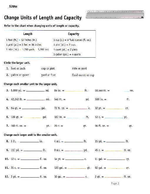 Measurement Worksheets mon Core Standards Aligned