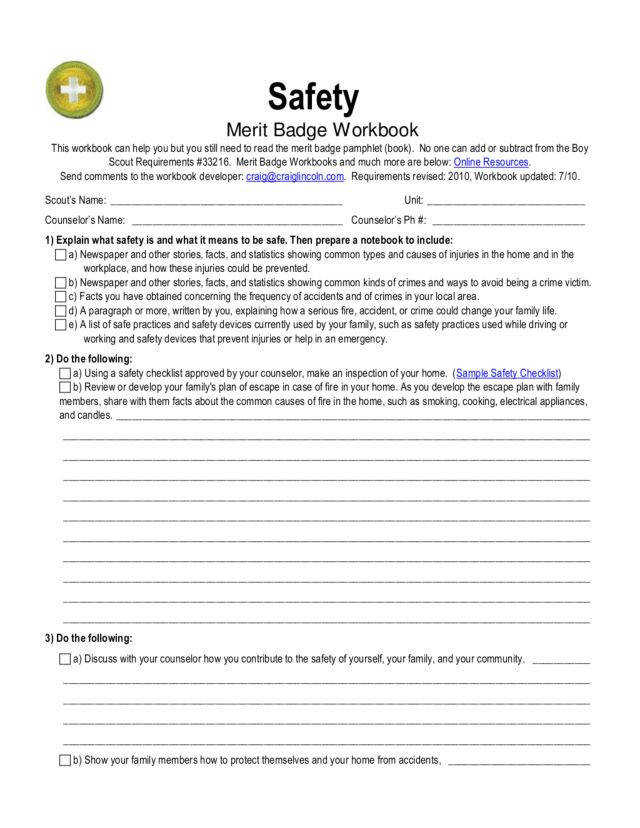 Merit Badge Lesson Plans