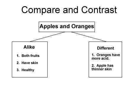 pare and Contrast Graphic Organizer