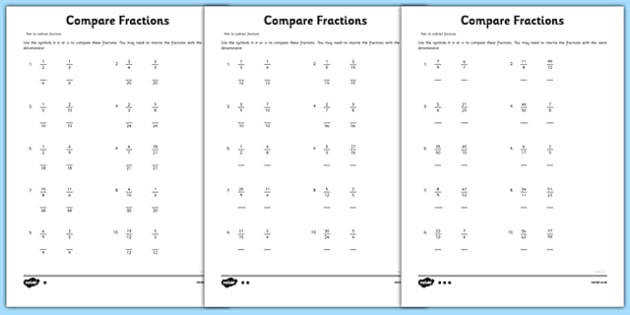 Year 6 pare Fractions Sheet 1 Activity Sheet new curriculum year 6 fractions