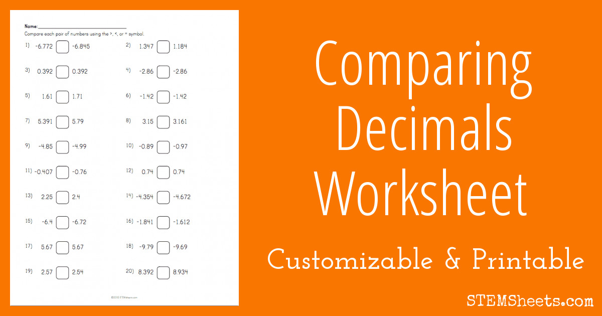 paring decimals worksheet