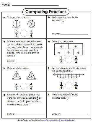 paring Fractions Printable Worksheet