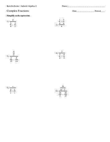 worksheet plex Fractions pdf
