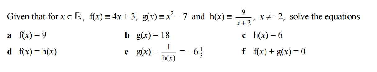 Extract from C3 Functions Solomon Worksheet A