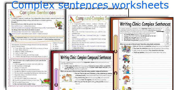 plex sentences worksheets