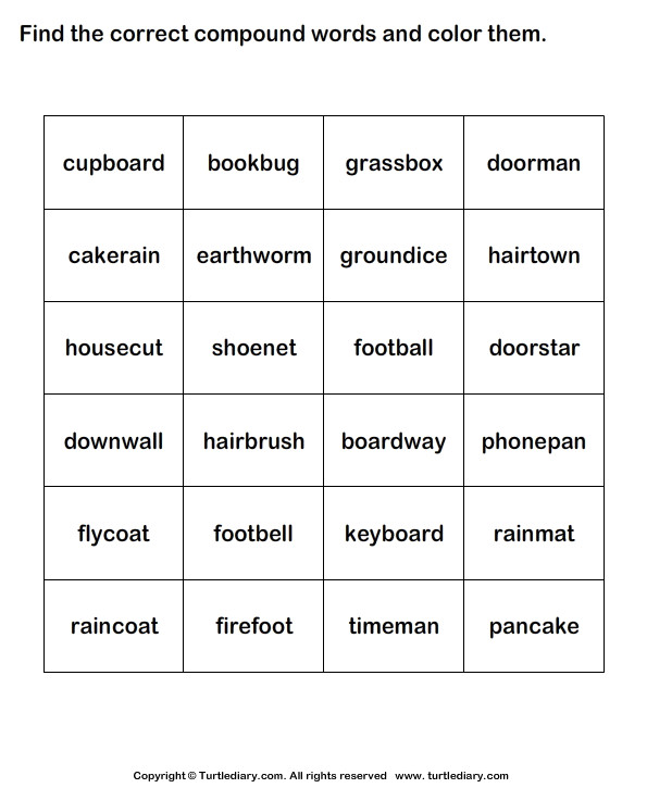 Identify and Color the pound Words
