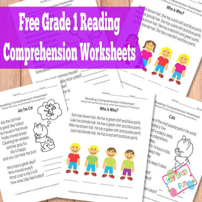 Grade 1 Reading prehension Worksheets