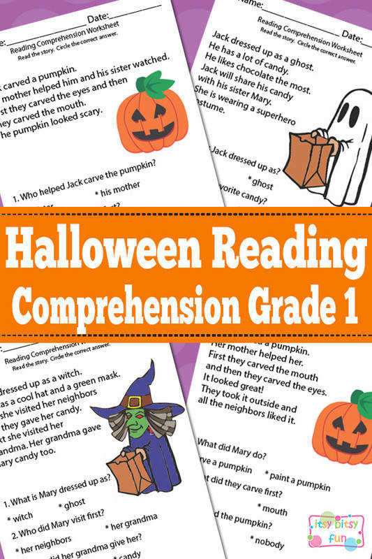 Halloween Grade 1 Reading prehension