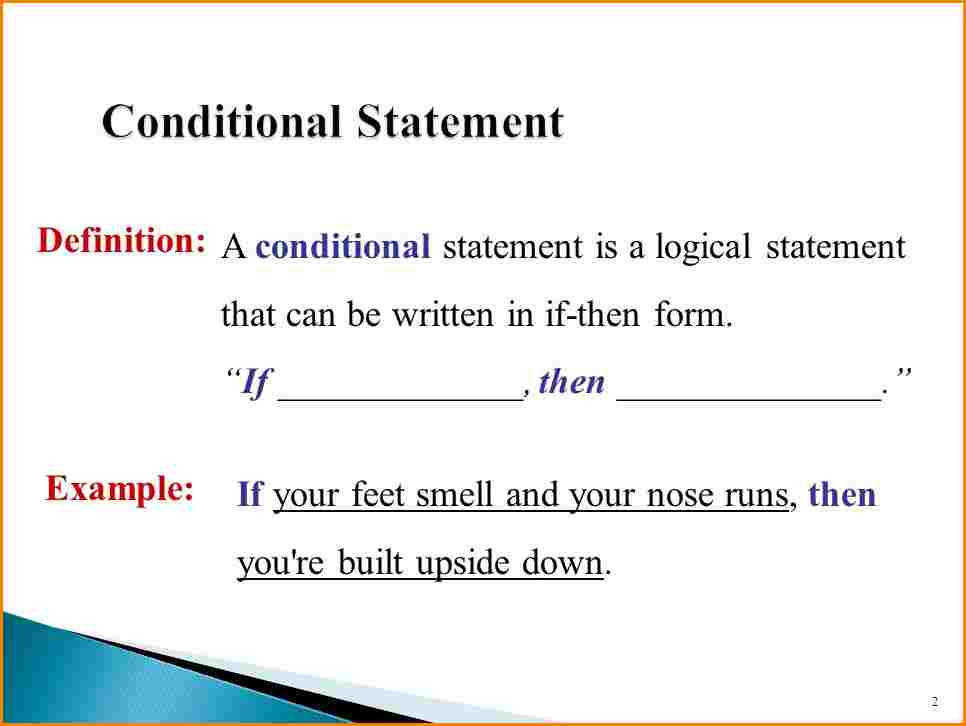 conditional statement geometry slide 2 11 conditional statement geometry