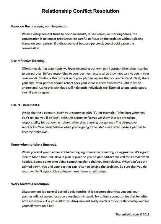 Relationship Conflict Resolution Preview Psychology Pinterest