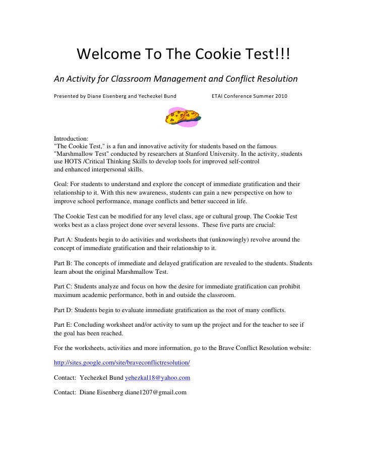 An Activity for Classroom Management and Conflict Resolution