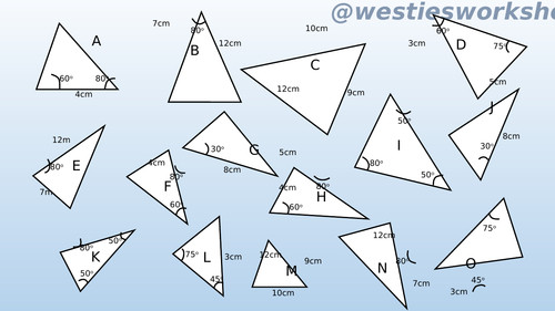 Congruent triangles Matching activity by supergenau Teaching Resources Tes