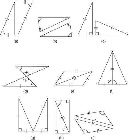 Figure 11 Methods of proving pairs of triangles congruent