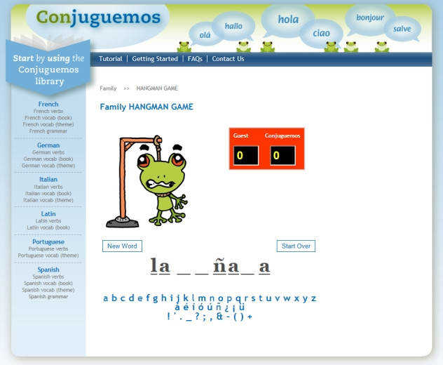 Conjuguemos line Foreign Language activities – Home Education Resources