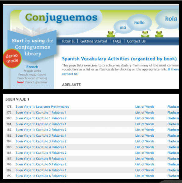 Excellent Review & Practice of Grammar Topics we cover Go to conjuguemos See Spanish on the bottom of the left column