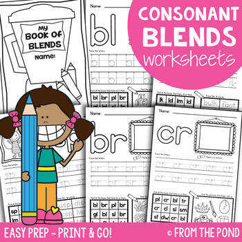 Consonant Blends Worksheets Easy Prep Printables