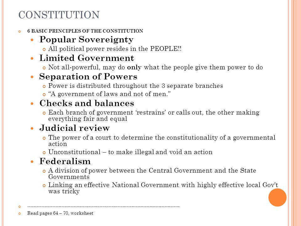 4 constitution Popular Sovereignty Limited Government