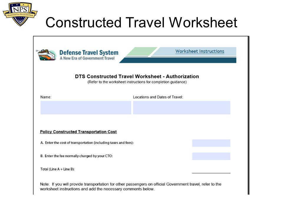 52 Constructed Travel Worksheet