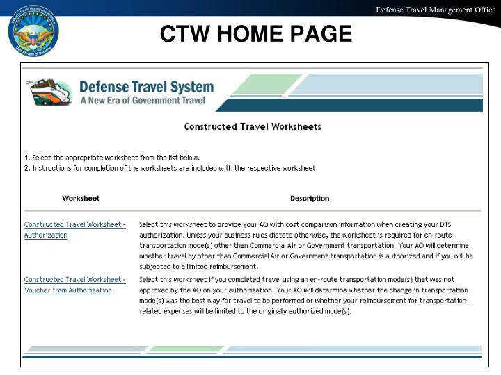 CTW HOME PAGE