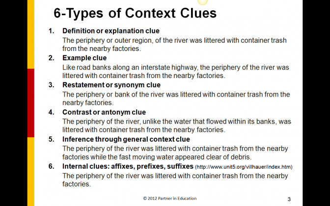 Worksheet Context Clues Wosenly Free 6 Types C Context Clues Lesson Plan 4th Grade Lesson