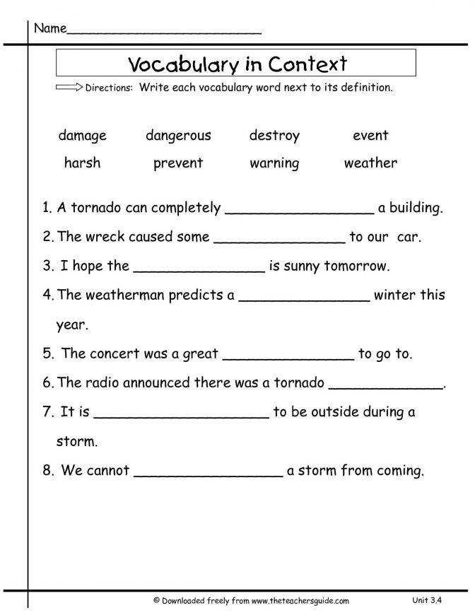 Find the Meaning With Clue Words | Context Clues Worksheets for ...