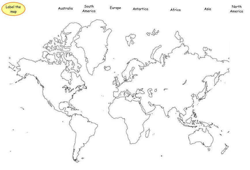 7 Continents and Oceans Worksheets