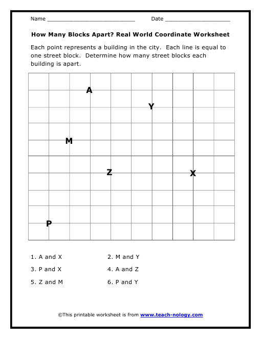 Print Basic Coordinate Geometry Worksheet