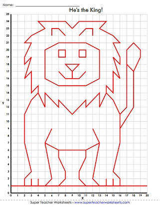 Mystery Graph Art Worksheet