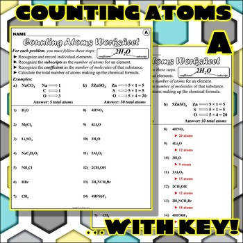 Worksheet Counting Atoms Version A