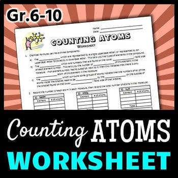 Counting Atoms Worksheet Editable