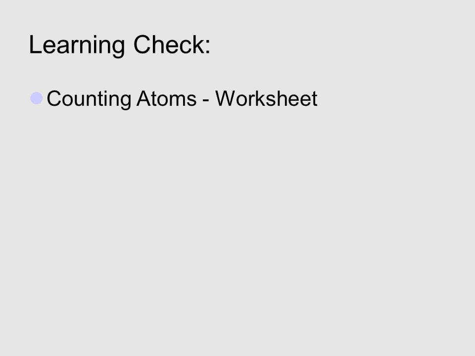 8 Learning Check Counting Atoms Worksheet