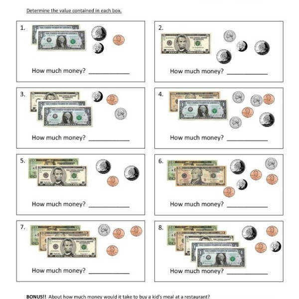 First Grade – Money – Counting Money