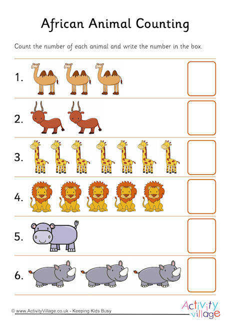African Animal Counting 2