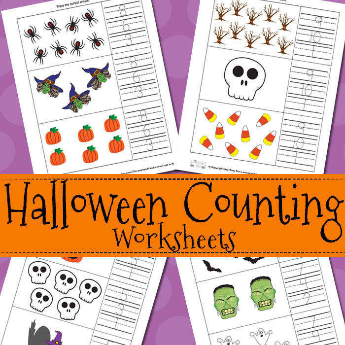 Free Printable Halloween Counting Worksheets for Kids