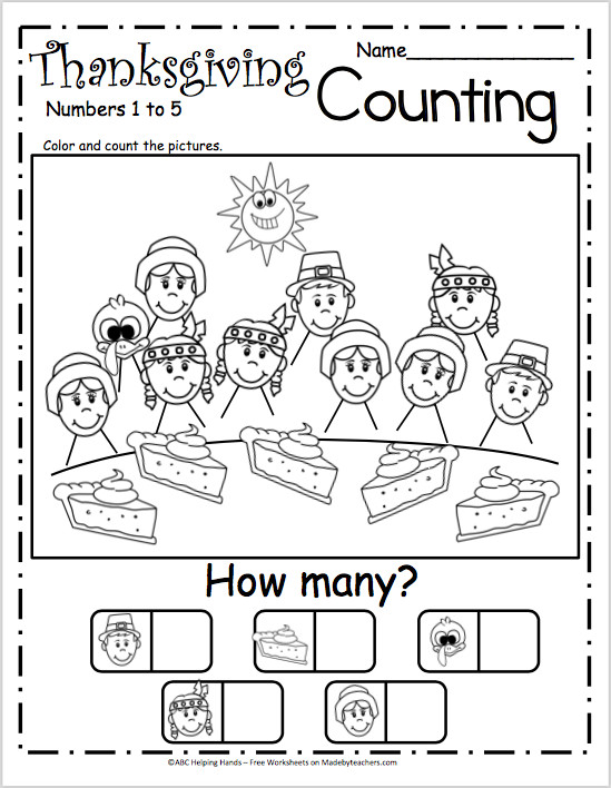 Free Counting Worksheets for Kindergarten