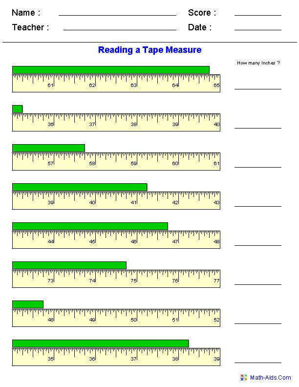 "Reading a Tape Measure Worksheets…click on ""create it"" to the worksheet"