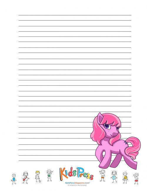 My Little Pony Handwriting Paper