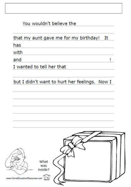 fun and free creative writing worksheets for kids presents ts
