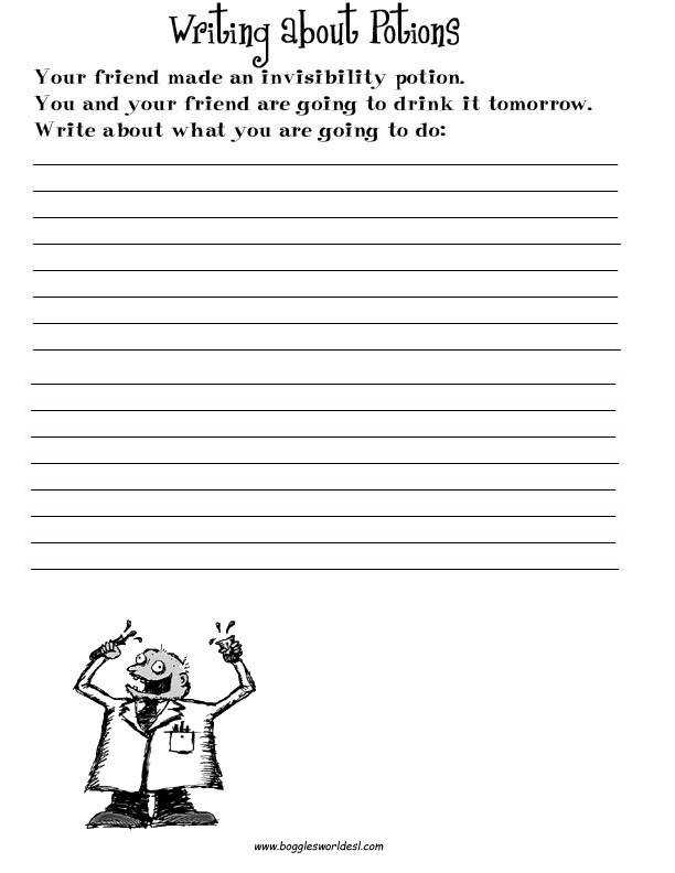 English teaching worksheets Creative writing