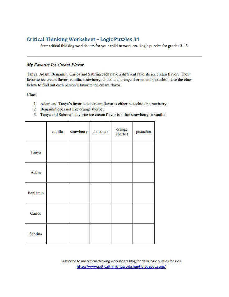 critical thinking worksheet logic puzzles 34 pdf logic puzzles 34 pdf