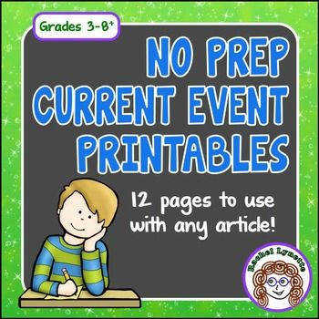 Current Events Printables Use with Any Article Great for Informational Text