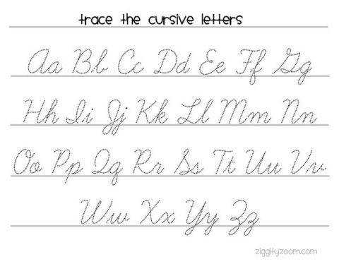 Cursive Handwriting Practice Worksheet