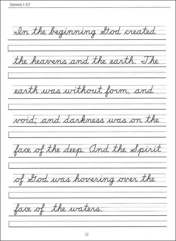 Scripture Character Writing Worksheets D Nealian Beginning Cursive
