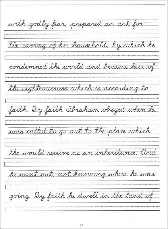 Scripture Character Writing Worksheets D Nealian Advanced Cursive
