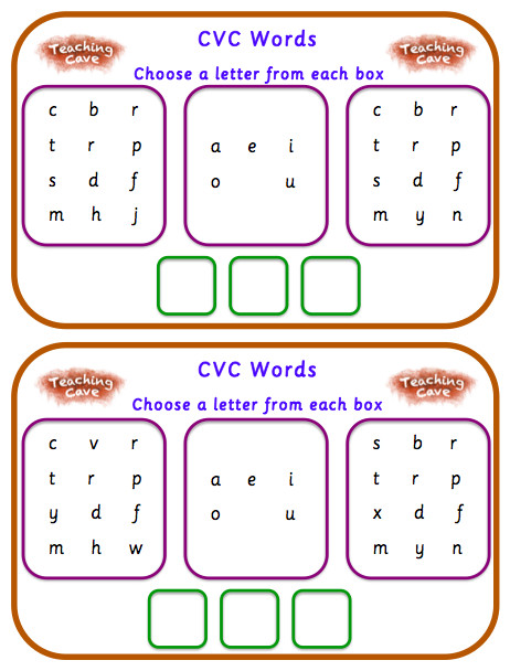e Minute Phonics CVC Words