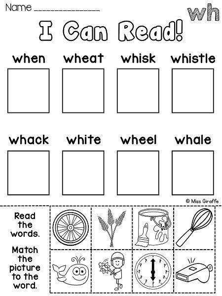 So many great WH worksheets centers and activities that are all NO PREP