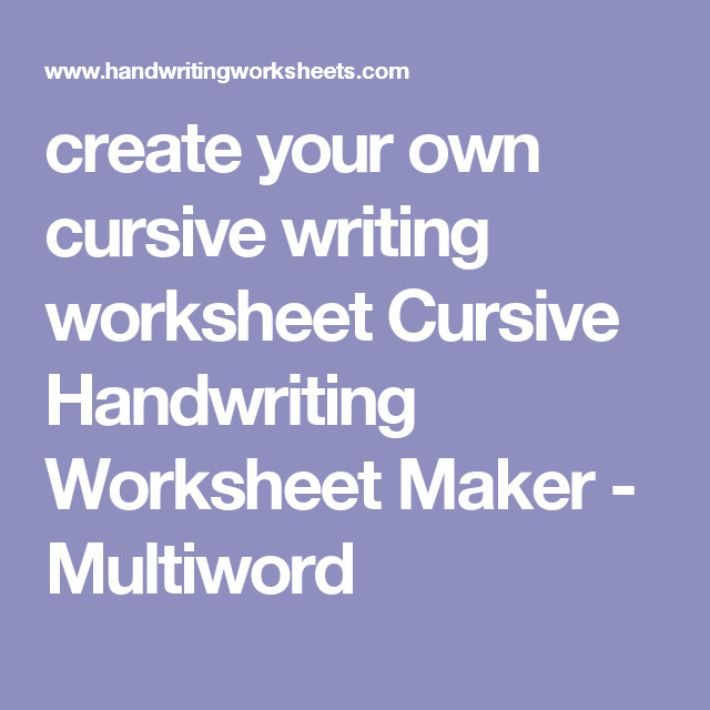 we ll make a beautify full page traceable cursive handwriting worksheet in seconds We also have a handwriting worksheet maker for PRINT and D Nealian