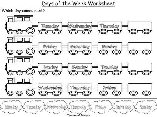 Days of the Week PowerPoint presentation and worksheet by Teacher of Primary Teaching Resources Tes