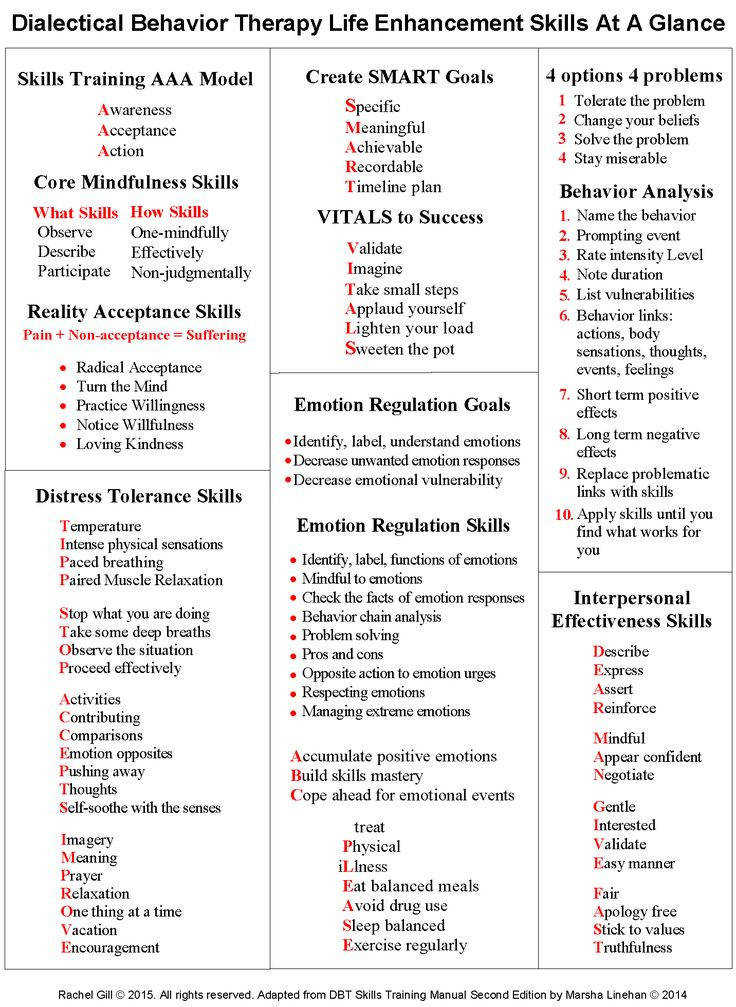DBT Skills Training Modules Handouts & Worksheets DBT Skills at a Glance DBT Skills Quick Reference Sheet by Rachel Gill Core Mindfulness States …