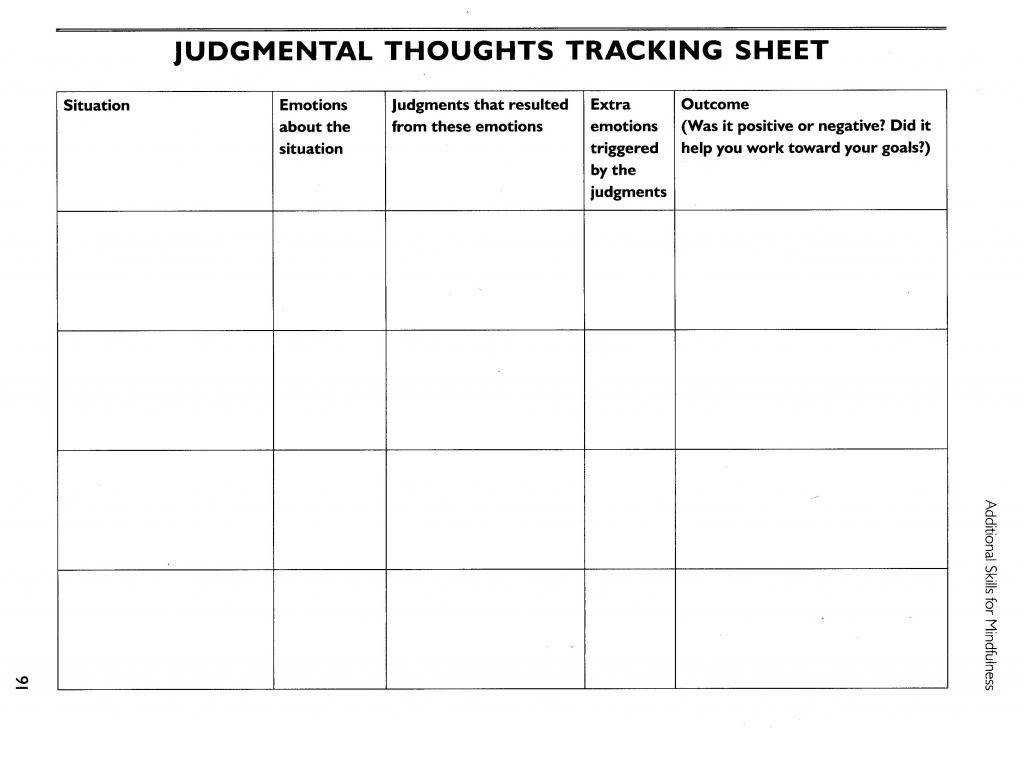 Dbt Worksheets